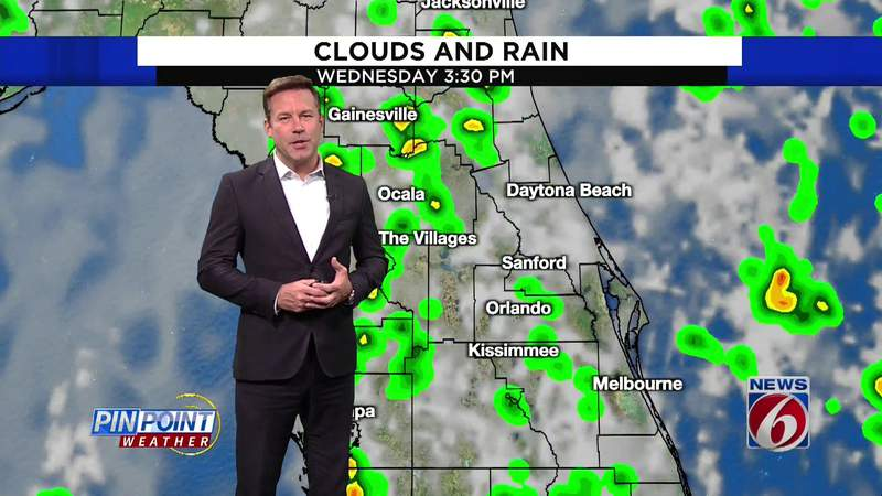 Warm day, sea breeze storms in Central Florida