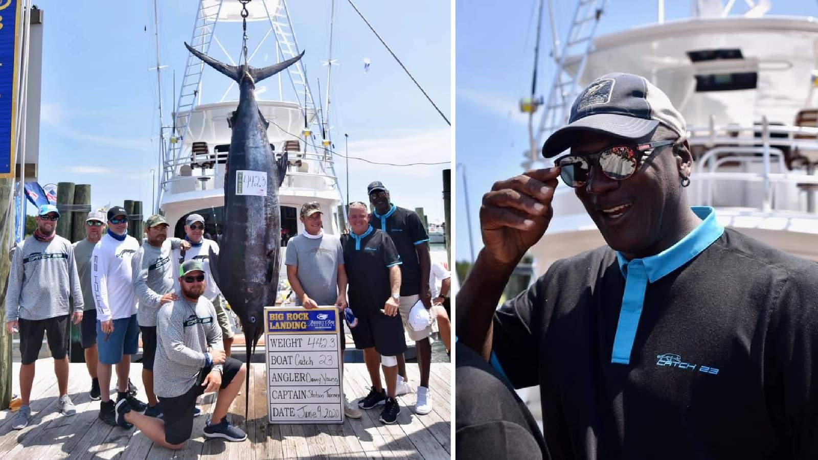 200公斤!喬丹釣魚大賽捕獲超大馬林魚,但卻只排在倒數第二!