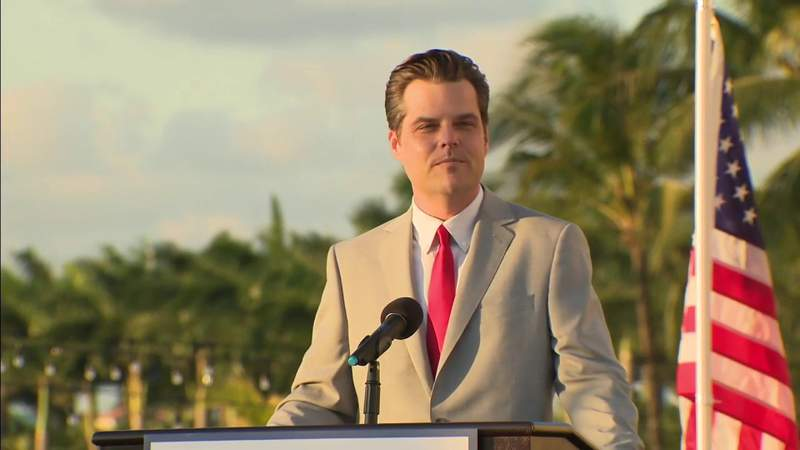While embroiled in alleged sex scandal, Gaetz speaks to Trump supporters in Doral
