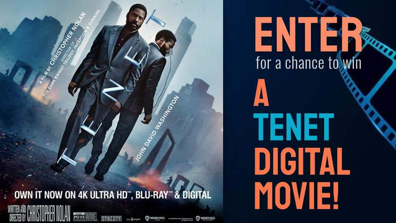 Enter for a chance to win a TENET Digital Movie!