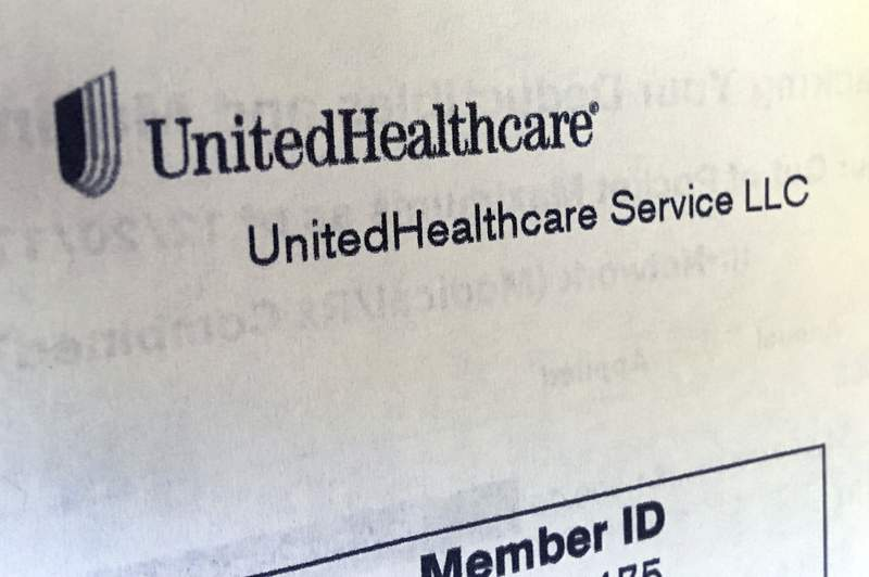 FILE - In this June 15, 2018 file photo, United Healthcare correspondence is seen in North Andover, Mass. UnitedHealth's third-quarter performance topped Wall Street's view, Thursday, Oct. 14, 2021, bolstered by the improving performance of its Optum segment. (AP Photo/Elise Amendola, File)