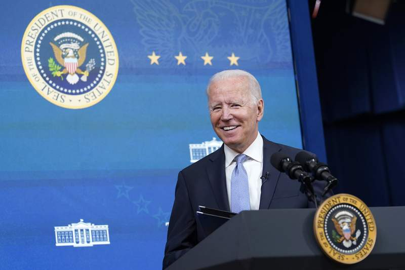 President Joe Biden speaks before signing several bills during an event in the South Court Auditorium on the White House complex in Washington, Wednesday, June 30, 2021. (AP Photo/Susan Walsh)