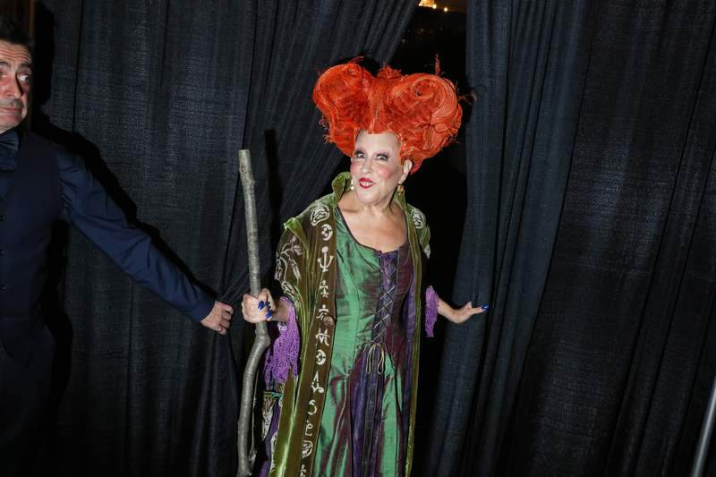 Bette Midler dressed as Winifred Sanderson from Hocus Pocus attends Bette Midler's Annual Hulaween Bash benefiting the New York Restoration Project at the Waldorf-Astoria Grand Ballroom on October 28, 2016 in New York City. (Photo by Rebecca Smeyne/Getty Images)