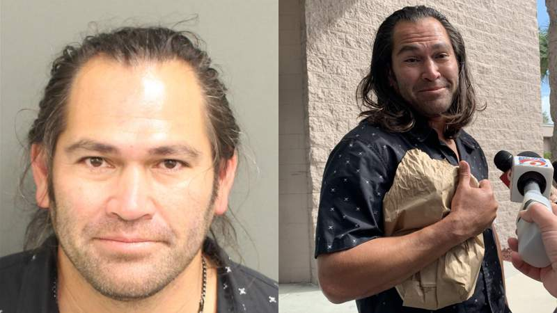 Retired MLB player Johnny Damon speaks after being released from jail