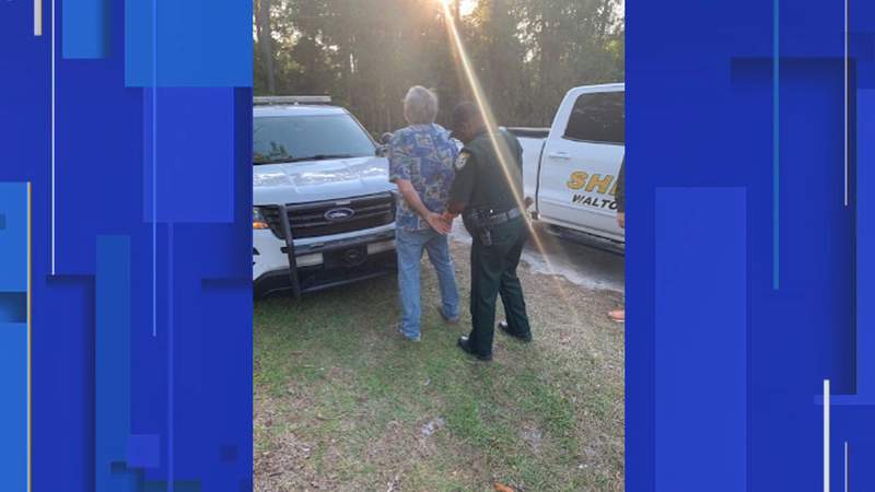 A Santa Rose Beach man is accused of starting a 343-acre wildfire in Walton County, according to the sheriff's office.
