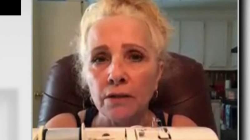 Woman creates homemade face masks