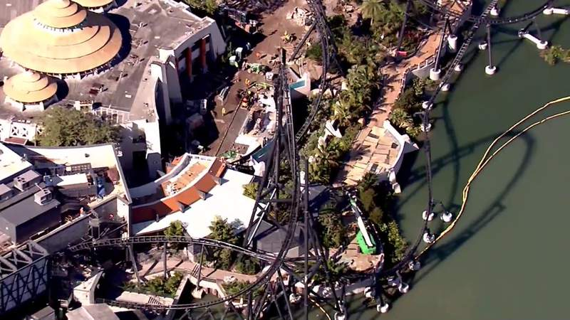 Sky 6 flies over new coaster at Universal