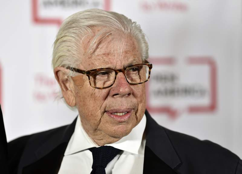 FILE - Journalist Carl Bernstein attends the 2018 PEN Literary Gala in New York on May 22, 2018. Bernstein took to Twitter to specifically out 21 Republican senators that he says have privately expressed contempt for President Donald Trump. It was an unusual form of reporting for Bernstein, who with former partner Bob Woodward broke stories that led to the resignation of former President Richard Nixon. (Photo by Evan Agostini/Invision/AP, File)