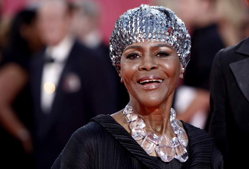 """FILE - Cicely Tyson arrives at the 61st Primetime Emmy Awards on Sept. 20, 2009, in Los Angeles. Tyson, the pioneering Black actress who gained an Oscar nomination for her role as the sharecropper's wife in """"Sounder,"""" a Tony Award in 2013 at age 88 and touched TV viewers' hearts in """"The Autobiography of Miss Jane Pittman,"""" has died. She was 96. Tyson's death was announced by her family, via her manager Larry Thompson, who did not immediately provide additional details. (AP Photo/Matt Sayles, File)"""