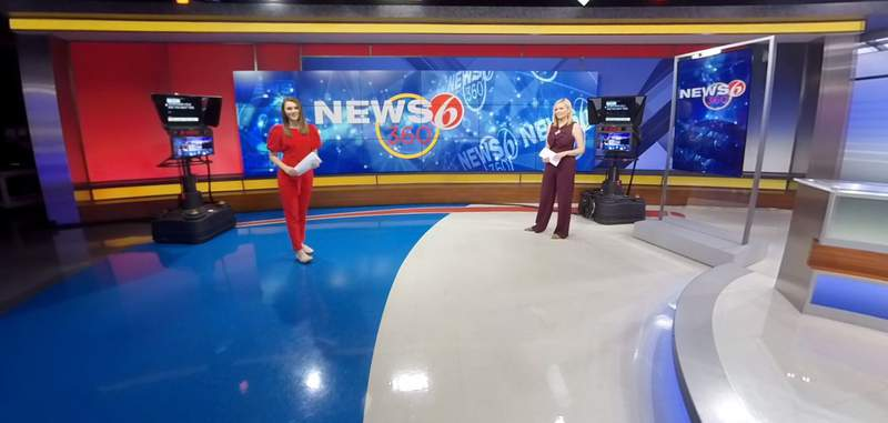 News 6/360 anchors Brianna Volz and Julie Broughton.