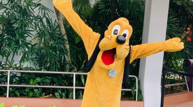 Pluto at EPCOT at Walt Disney World