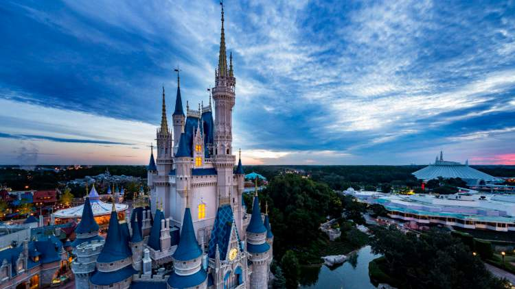 Walt Disney World Resort theme parks in Lake Buena Vista, Fla., plan to begin a phased reopening in July, Magic Kingdom Park (pictured) and Disney's Animal Kingdom are planned to reopen on July 11, 2020, followed by EPCOT and Disney's Hollywood Studios on July 15, 2020.