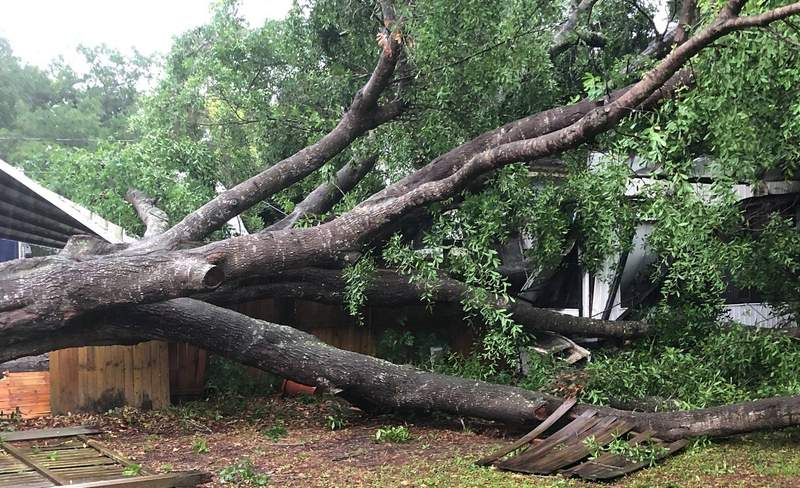Strong storms caused damage in Polk County on April 11, 2021.
