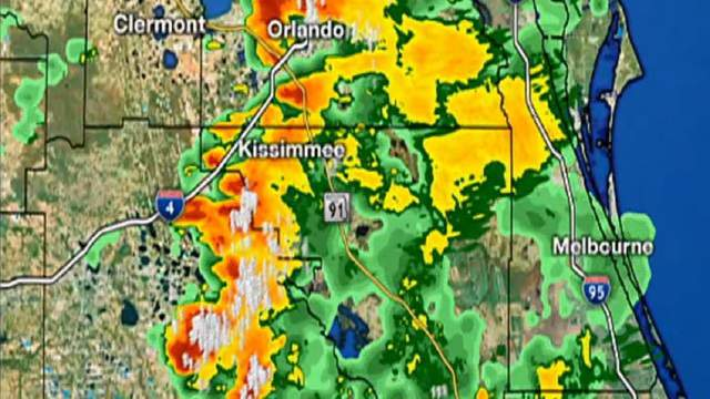 Orlando Florida Weather Map LIVE RADAR: Storms pop up in Central Florida