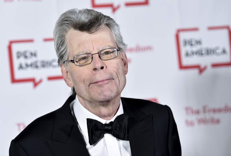 """FILE - This May 22, 2018 file photo shows Stephen King at the 2018 PEN Literary Gala in New York. King, a member of the  Academy of Motion Picture Arts and Sciences, says he cares only about quality,"""" not diversity when deciding on awards. The best-selling author's comments came shortly after the announcement of this year's nominees for the Academy Awards, widely criticized for only choosing male directors and for an almost entirely white group of acting finalists. King wrote that he had been allowed to nominate people for best picture, best screenplay and best original screenplay, and that for him the diversity issue _ as it applies to individual actors and directors, anyway _ did not come up. (Photo by Evan Agostini/Invision/AP, File)"""