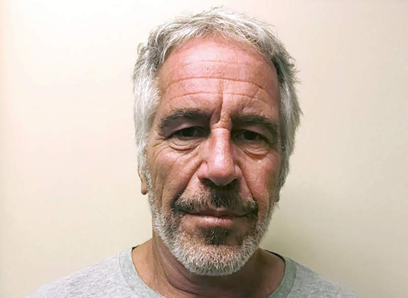 FILE - This March 28, 2017, file photo, provided by the New York State Sex Offender Registry, shows Jeffrey Epstein. A fund set up to provide money to victims of financier Epstein has abruptly suspended payouts. The Epstein Victims Compensation Program said Thursday, Feb. 4, 2021, it has temporarily run out of funds. (New York State Sex Offender Registry via AP, File)