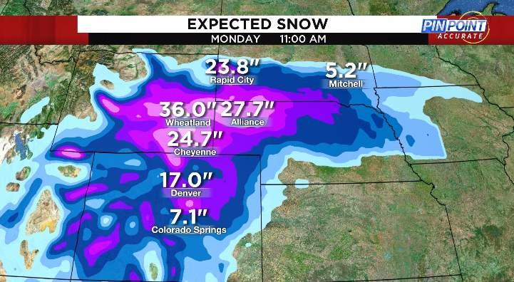Expected snow Friday through Monday