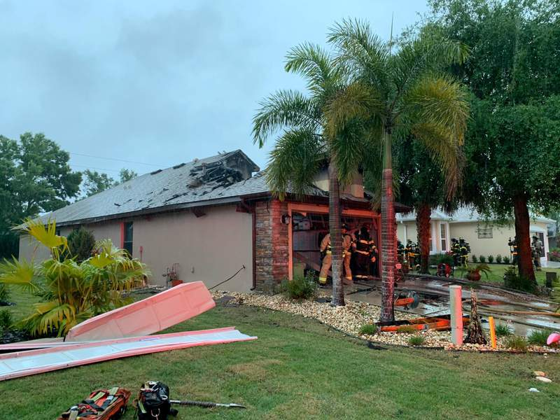Lightning strike to blame for house fire in Mount Dora, officials say. (Image: City of Mount Dora)