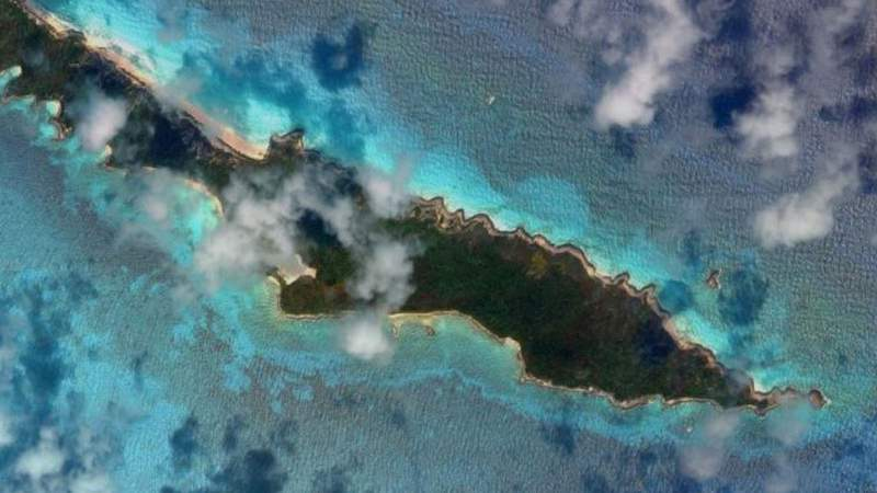 Anguilla Cay is the uninhabited island in the Bahamas where rescuers found three people who were stranded there for 33 days.