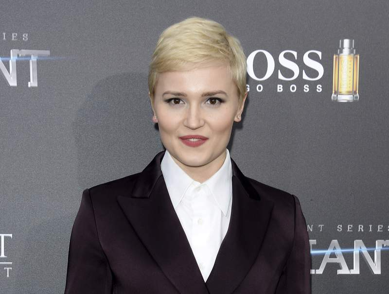 """FILE - In this March 14, 2016, file photo, author Veronica Roth attends the premiere of """"Allegiant"""" in New York. A free e-book just published offers excerpts from upcoming books by Roth and Sue Monk Kidd among others. Buzz Books 2020: Spring/Summer was released Thursday, Jan. 16, 2020, by the industry newsletter Publishers Lunch. (Photo by Evan Agostini/Invision/AP, File)"""