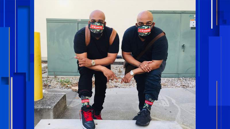 Brothers Marcus and Mario Taylor own The Sock Gallery.