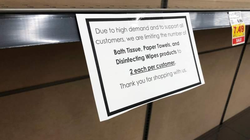 Toilet paper limits, empty shelves are back as virus surges