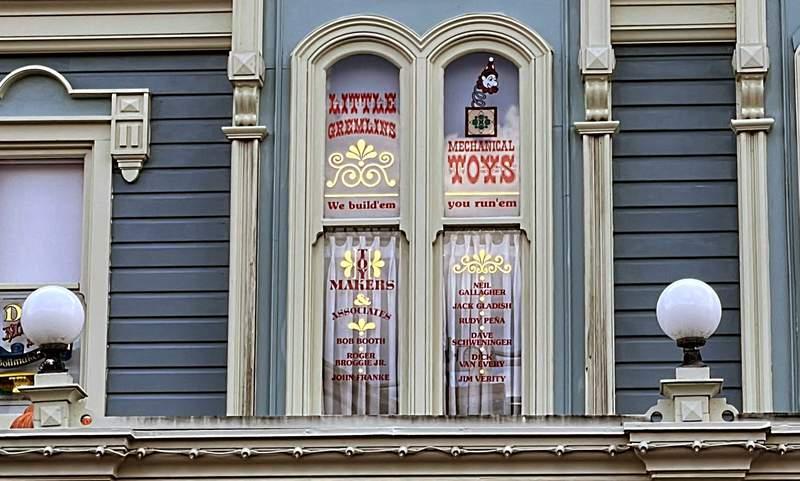 A window on Main Street, USA in the Magic Kingdom, Walt Disney World