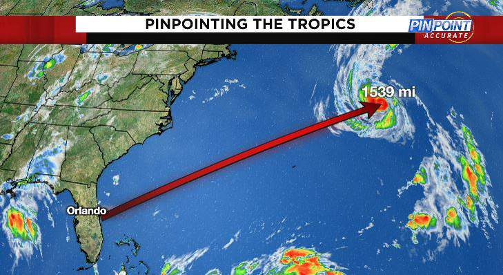 Sam continues to bring strong rip currents to Florida even as it moves AWAY from the Sunshine State.