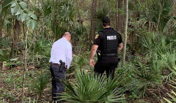 Ocala police discover skeletal remains in a wooded area. (Ocala Police Department Facebook)