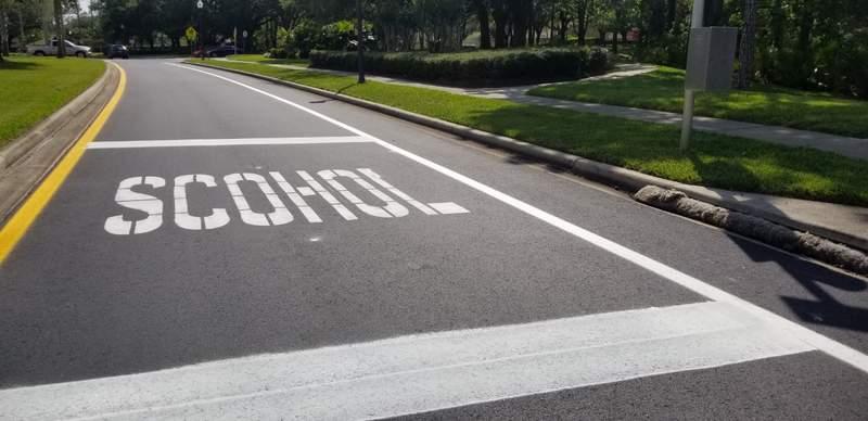 OOPS: Misspelled word painted in Orange County school zone