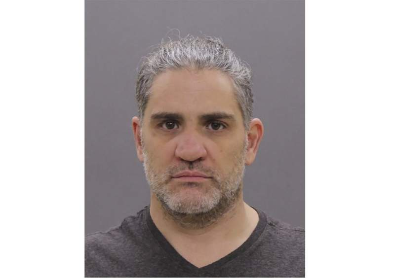 This photo provided by the FBI shows Dominic Pezzola.  The Department of Justice announced Friday, Jan. 29, 2021, two New York men identified as members of the Proud Boys have been indicted on federal conspiracy and other charges in the Jan. 6, Capitol riot.  Pezzola and William Pepe were arrested earlier in the month on federal charges including illegally entering a restricted building.  (FBI via AP)
