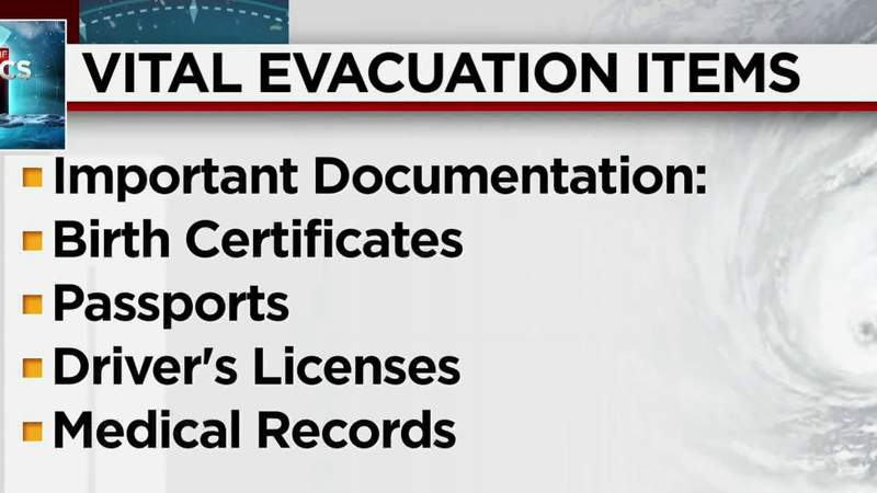 Hurricane evacuations: Don't leave home without these items