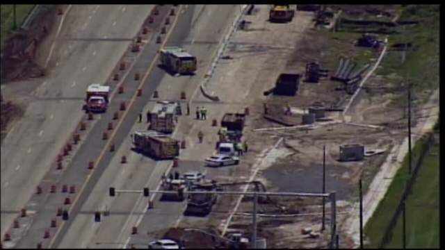 A gas line ruptures near Waterford Lakes.