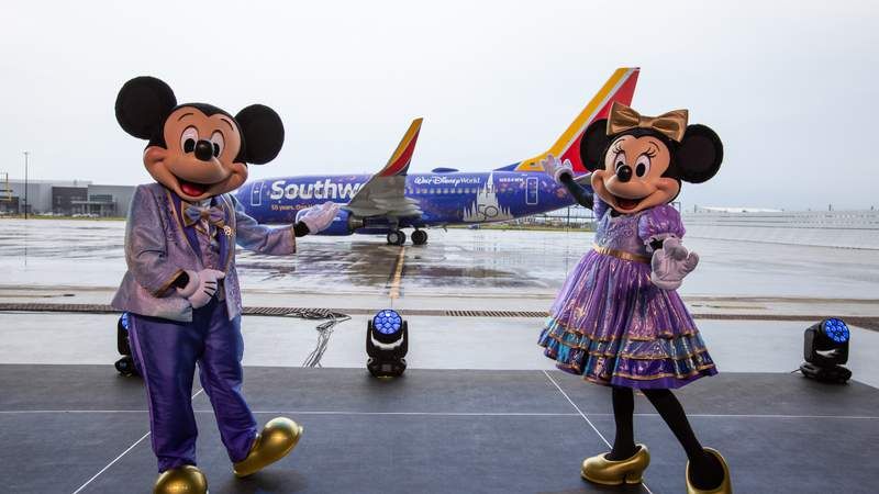 Southwest Airlines And Walt Disney World Resort Celebrate 50th Anniversary Of Both Iconic Brands With Commemorative Aircraft
