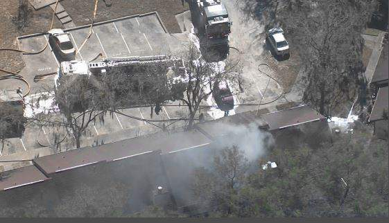 Orlando Fire Department crews responding to a fire on Jan. 29, 2021. (Image: Sky 6)