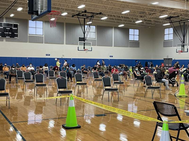 Orange County mobile vaccination site opens at the Silver Star Park Gymnasium in Pine Hills.