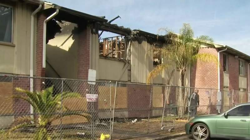More than 30 people displaced after fire at Pine Hills apartment complex