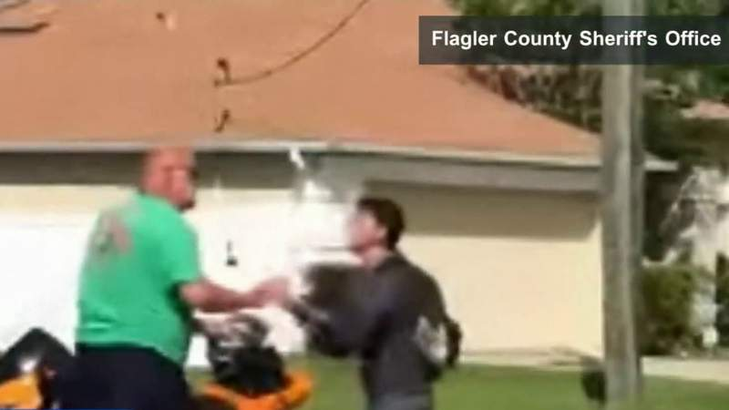 Video shows road rage fight between driver, motorcyclist, Flager deputies say