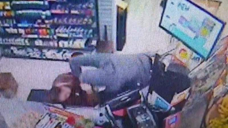 Police say a gas station clerk was attacked.