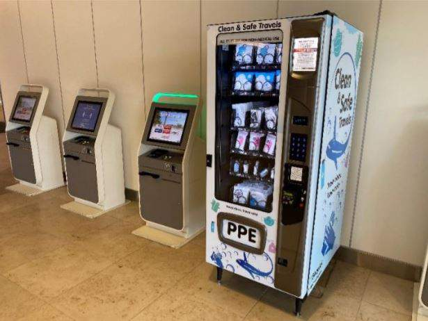 PPE vending machines installed at Orlando International Airport. (Image: OIA)