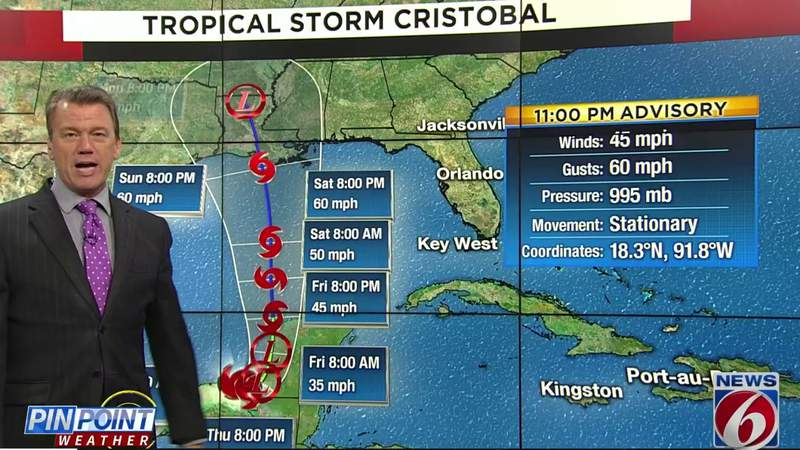 Here's how Tropical Storm Cristobal will affect Central Florida