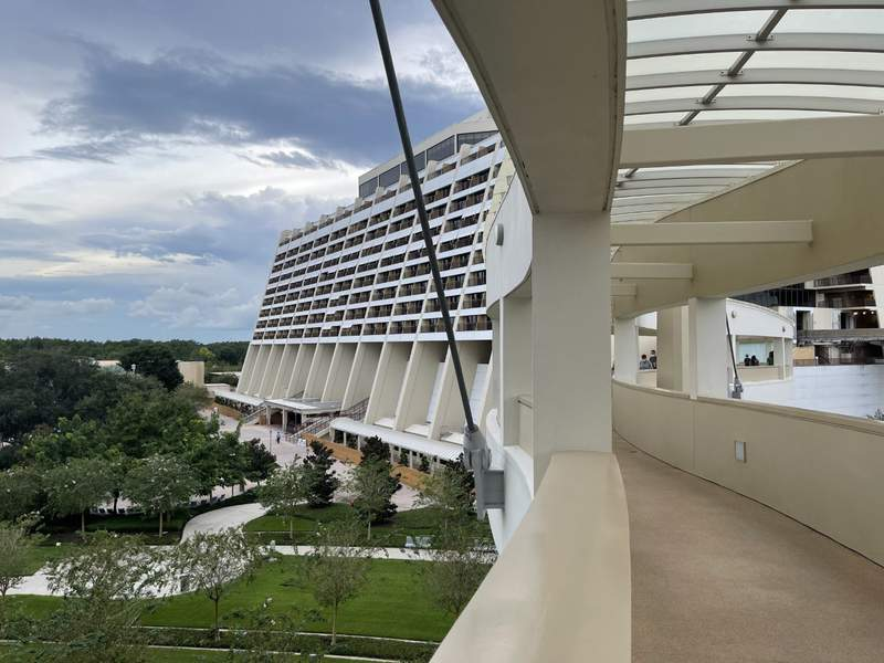 A view of Disney's Contemporary Resort from Bay Lake Tower (Photo Credit: Haley Coomes)