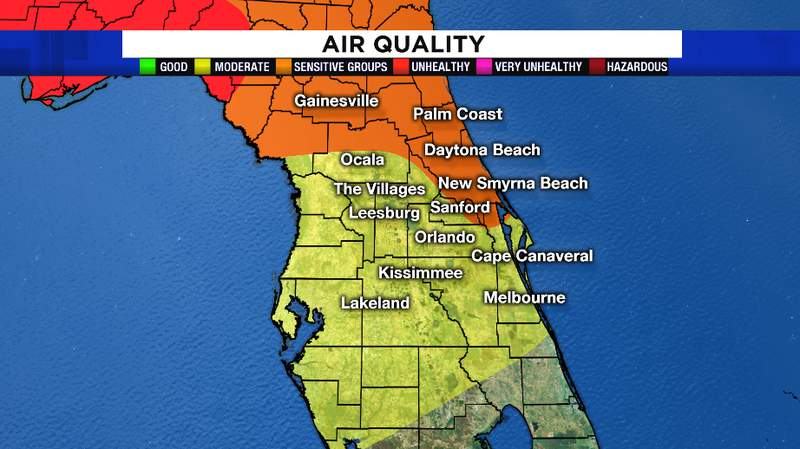The air will be unhealthy for sensitive groups Saturday. Limit your time outdoors if you are in this category.