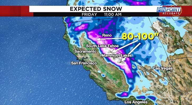 Estimated snow through Friday morning