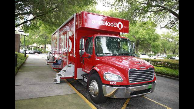 OneBlood accepts blood donations on Orlando United Day.
