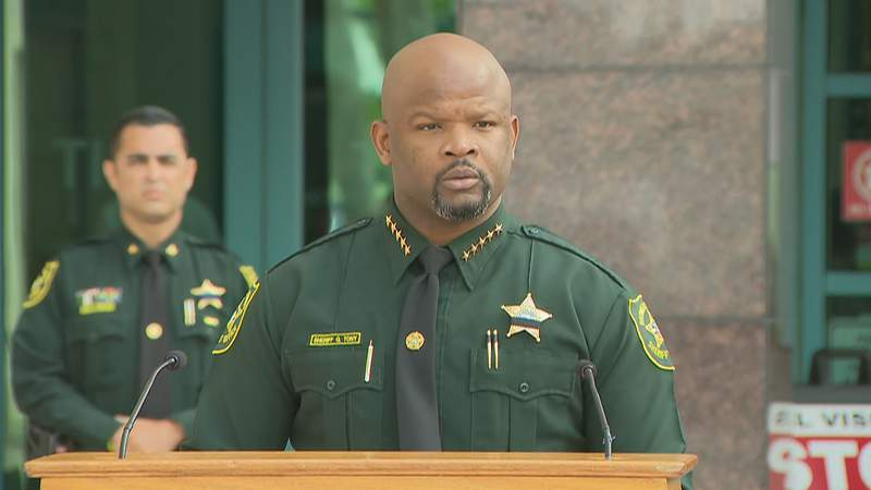 Broward County Sheriff Gregory Tony speaks at April 7 news conference.