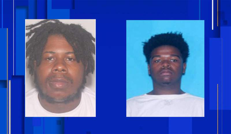 Se'Darius Turner, 23, left, was shot and killed at an Orlando home. Police arrested a suspect, Shannon Sir Smith Charles, 20, on right.