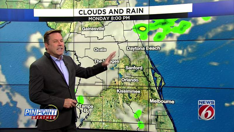 Dreary start to workweek, but 90s on the way