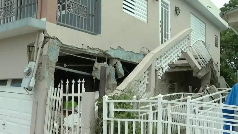 Neighborhoods damaged in Puerto Rico earthquakes