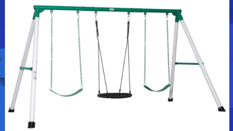 Around 9,000 swing sets have been recalled due to a possible faulty attachment, according to the Consumer Product Safety Commission.